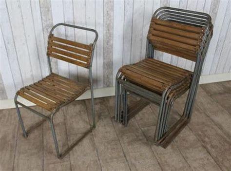 vintage stacking slatted chair original  stacking
