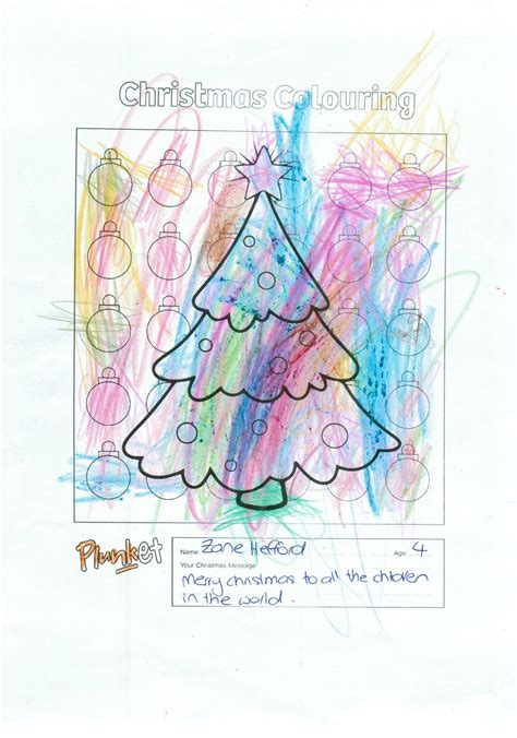 zane  years  christmas colouring competition