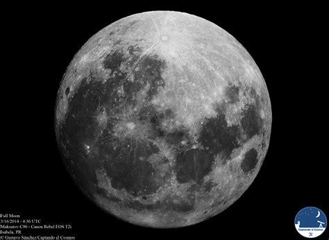 luna llena  de marzo de  captando el cosmos