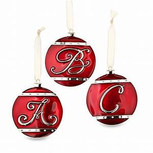 monogram letter ball ornaments with swarovskir elements With lighted letter ornaments