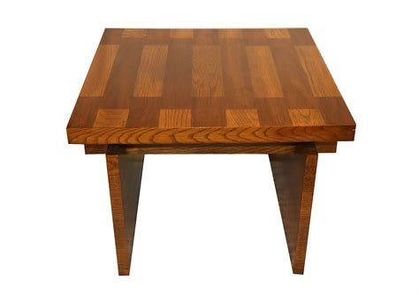 The center was always walnut, and the edge was white oak. Mid Century Modern Lane Brutalist Oak Coffee Table