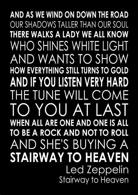 Details about STAIRWAY TO HEAVEN - LED ZEPPELIN Wall