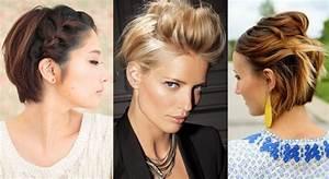 Comment Se Couper Les Cheveux Court Toute Seule : 20 coiffures pour cheveux courts vues sur pinterest ~ Melissatoandfro.com Idées de Décoration