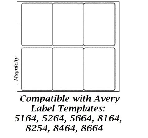 Avery 5164 Template Word by Avery 8164 Blank Template Images