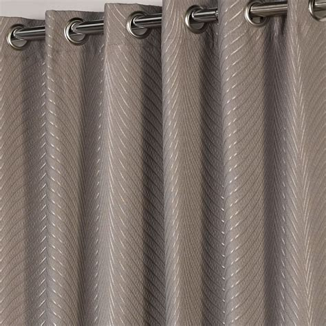 luxury heavy weight eyelet lined curtains taupe silver