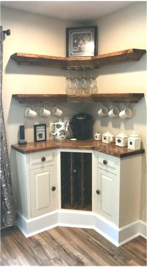 Simple, clean coffee and wine bar. Pin on small coffee bar ideas
