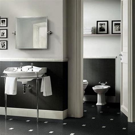 Small Black And White Bathroom by 27 Small Black And White Bathroom Floor Tiles Ideas And