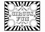 Circus Coloring Printables Birthday Clipart Carnival Printable Tickets Invitation Pages Ticket Theme Fun Template Games Cliparts Clip Catchmyparty Printabelle Sheets sketch template