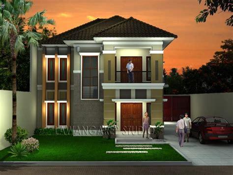desain rumah tampak depan  arsitektur menawan