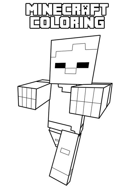 printable minecraft coloring pages  minecraft