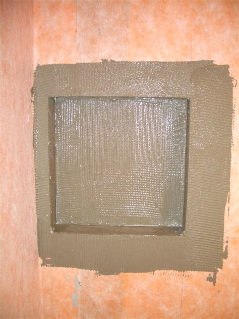 kerdi niche how to build a niche for your shower part 2