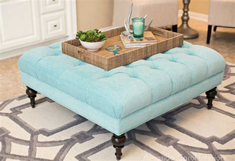 blue ottoman coffee table light blue ottoman ottomans and coffee tables