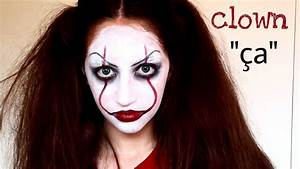 Maquillage Halloween Clown : maquillage halloween clown pennywise a facile youtube ~ Melissatoandfro.com Idées de Décoration