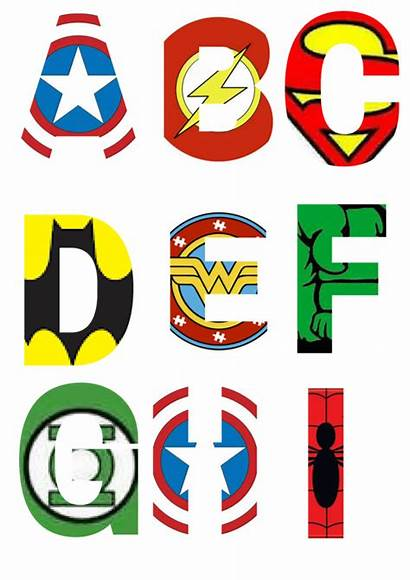 Superhero Alphabet Letters Printable Clipart Letter Superheroes