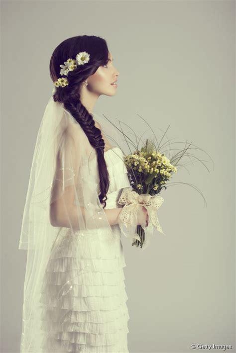 bridal hair tutorial fishtail braid   flowers wedding