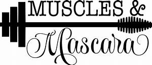 """""""Muscles and mascara"""" vinyl decal home or professional gym"""