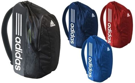 Adidas Large Backpack Gear Bag Wrestling Volleyball, Red