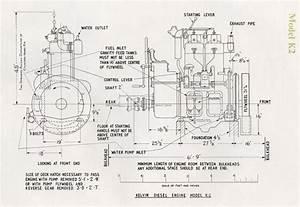Kelvin Diesel Model K Installation Drawings