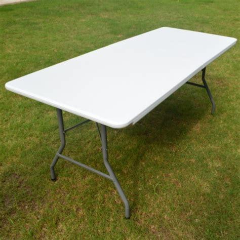 wholesale outdoor 6ft rectangle white plastic folding