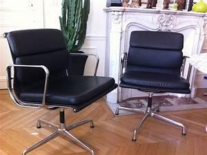 Fauteuil Charles Eames : fauteuils soft pad charles eames pour vitra l 39 atelier 50 ~ Melissatoandfro.com Idées de Décoration