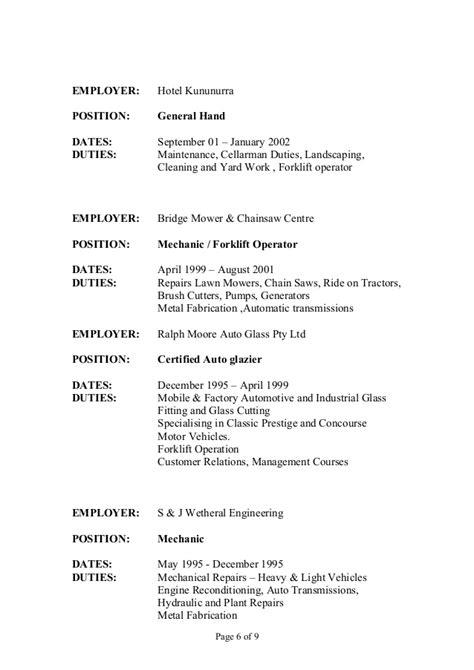 Glazier Description Resume by Resume