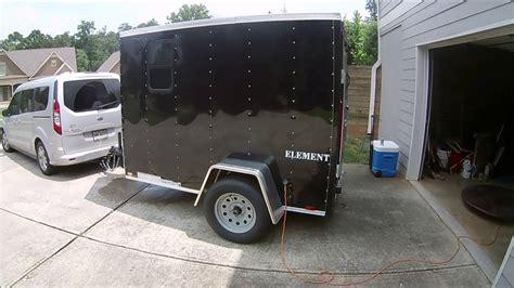 enclosed trailer r door conversion 5x8 cargo trailer conversion to rv walkthrough