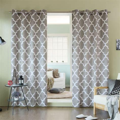 moroccan pattern curtain panels home velvet moroccan print grommet top 84 inch