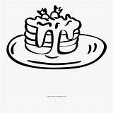 Coloring Pancakes Clipartkey sketch template