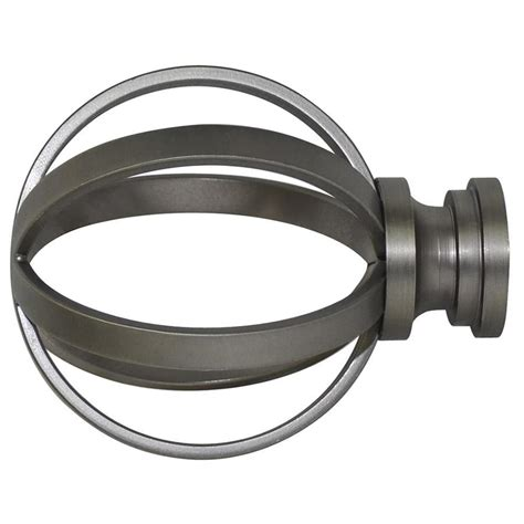 shop allen roth brushed pewter pewter steel curtain rod