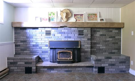 The Crux-grey Paint Wash On A Brick Fireplace