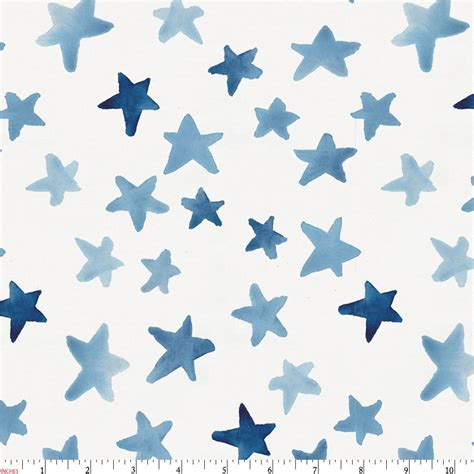 toddler boy bedding blue watercolor fabric by the yard blue fabric