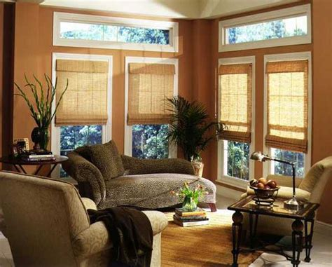 homes decor beautiful bamboo blinds for interior decorating and