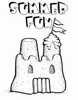 Sand Castle Coloring Summer Fun Play Pages sketch template