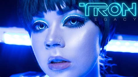 TRON LEGACY Inspired Makeup Tutorial - YouTube