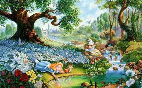 Alice In Wonderland Cartoon Hd Desktop Backgrounds All