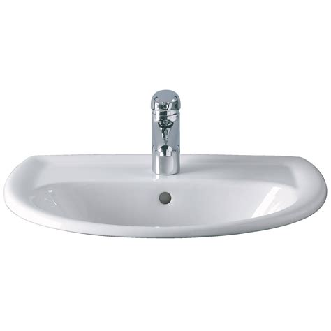 Twyford Galerie 1 Tap Hole Countertop Basin 500 X 430mm