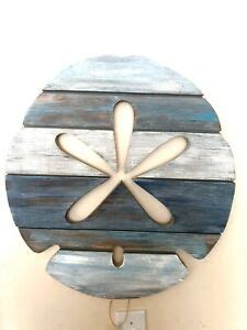 """A wide variety of sand dollar decor options are available to you, such as material, use, and christmas item type. Large Distressed Slat Wood Sand Dollar 24x22"""" Wall Art By DI Beach Decor 