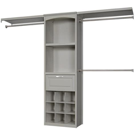 shop allen roth 8 ft x 6 83 ft rustic gray wood closet