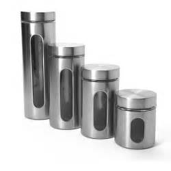 kitchen canister sets walmart anchor hocking 4 palladian canister set with window stainless steel walmart com