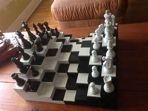 3d Chess Board   5 Steps  With Pictures