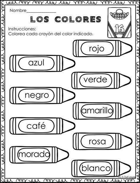 best 25 worksheets ideas on es in 688 | 9c4c3a26c0223c483fcaa8a15fd4b4c5 spanish colors worksheet learning spanish worksheets