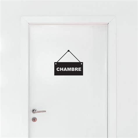 porte pour chambre stickers panneau chambre stickmywall