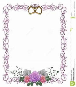 wedding invitation floral border roses stock illustration With wedding invitation page borders free download