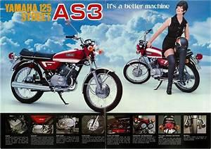 Yamaha Brochure As3 125 Street 1971 1972 Sales Catalog