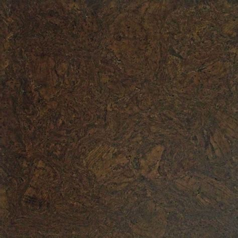 walnut colored cork tiles in nugget texture rustic