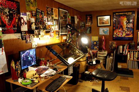 desk for digital artist artwork the larry west productions blog