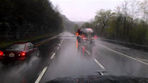 rain storm heavy monteagle mountain trucking during