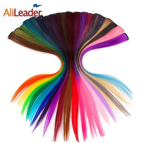 Alileader Made 20 Colors 50cm Single Clip In One Piece