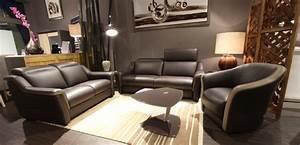 Canapé Cuir Fauteuil : salon cuir tissu canape fauteuils accueil design et mobilier ~ Premium-room.com Idées de Décoration