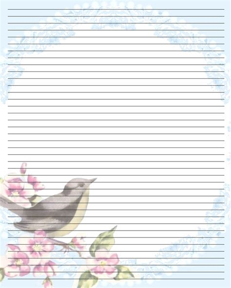 4 best images of pretty printable writing paper free